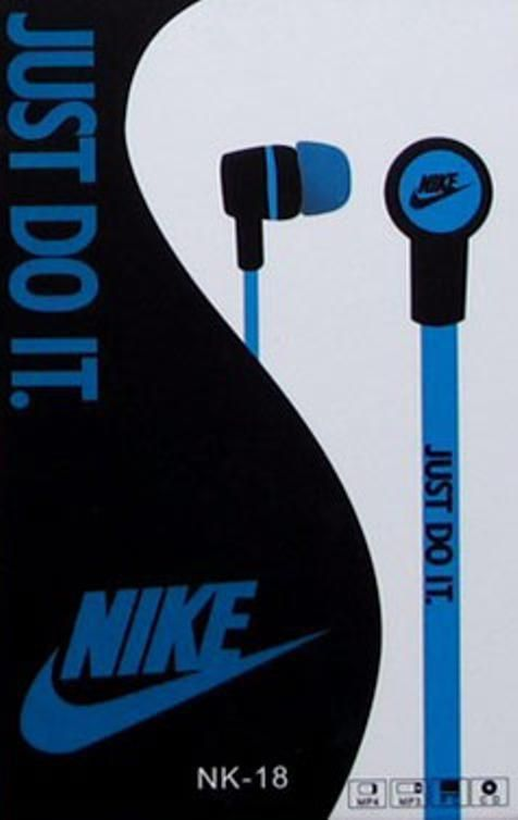 "New NIKE JUST DO IT Headphones ""BLUE""- Free Shipping  #Nike"