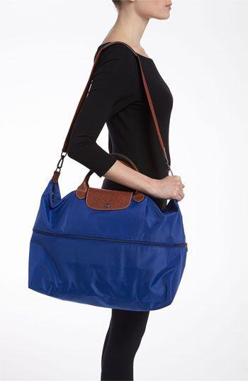 Longchamp Le Pliage Expandable Travel Bag Nordstrom In Black