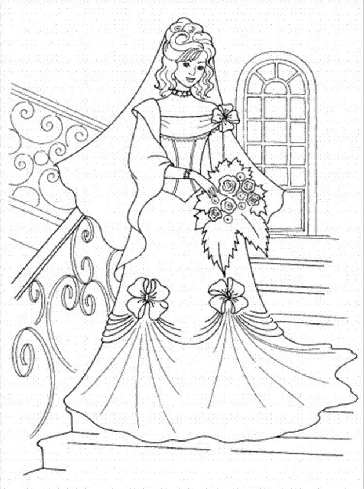 Coloring In Princess Pictures To Print