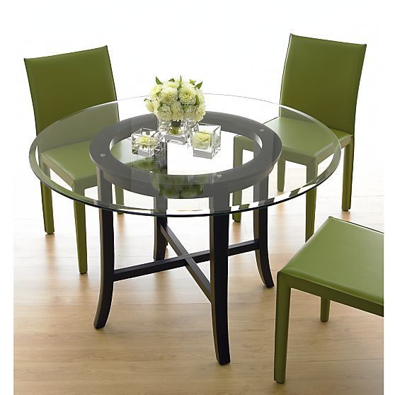 Halo Ebony Dining Tables With Glass Top Crate And Barrel 700