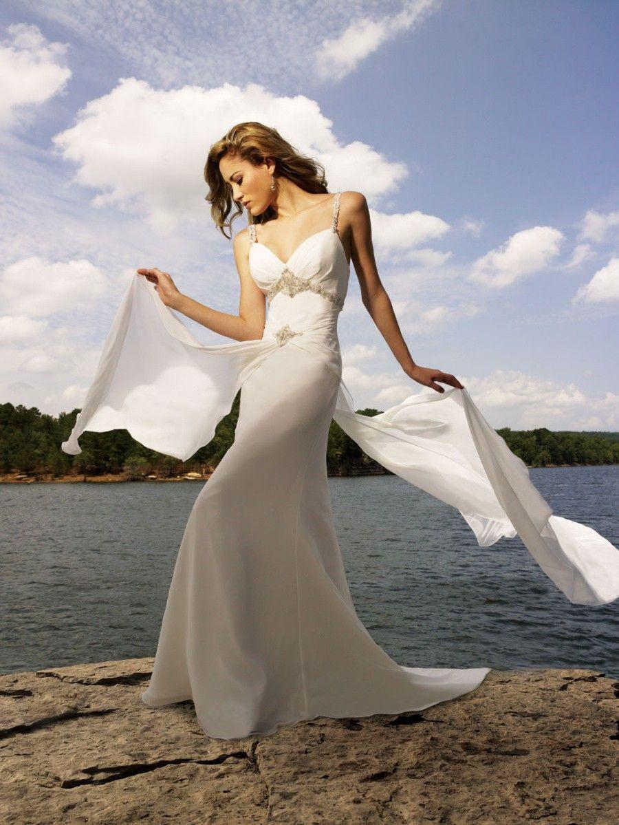 Spaghetti Strap a Line Wedding Dress Weheartit