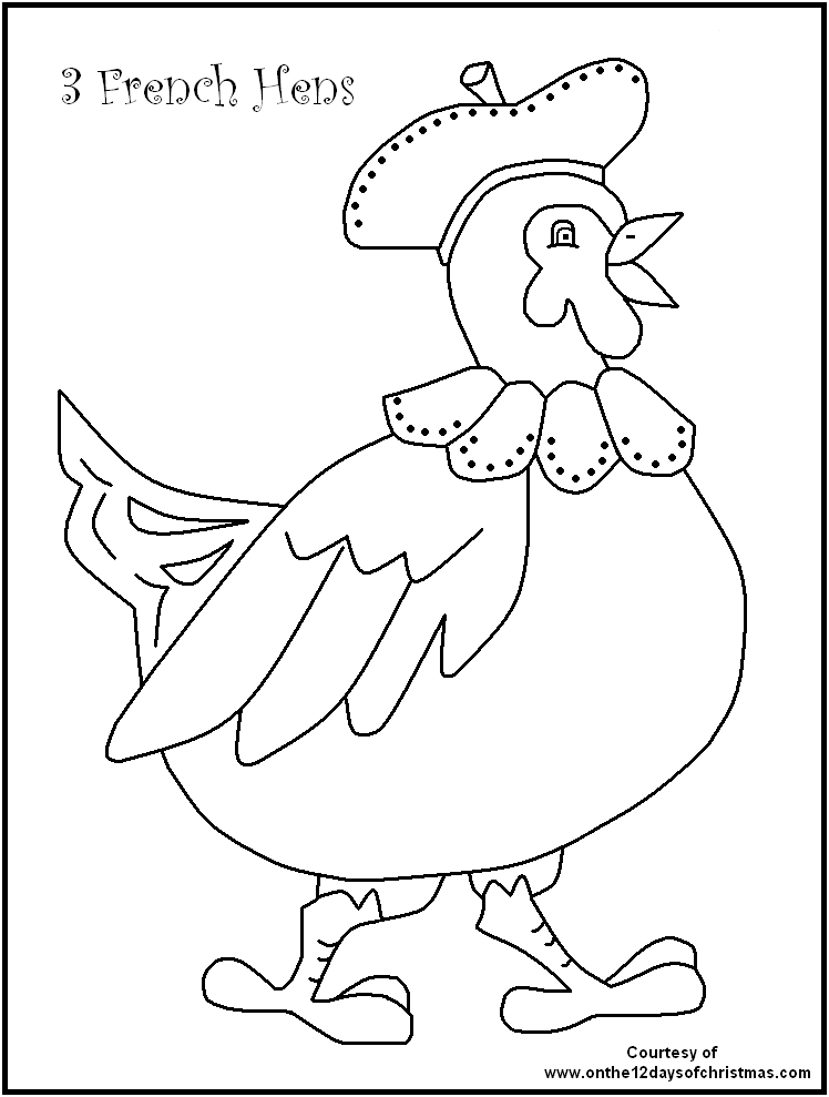 Twelve Days Of Christmas Coloring Pages - AZ Coloring Pages | 12 ...