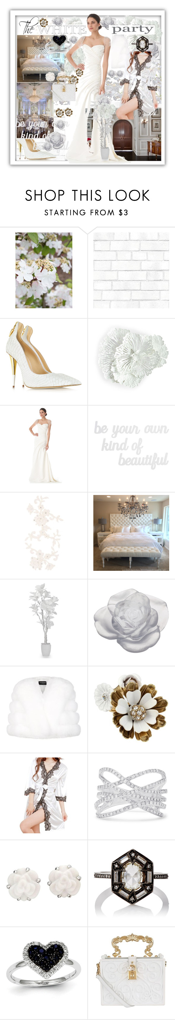 """""""The White Party"""" by jaymagic ❤ liked on Polyvore featuring Tempaper, Giuseppe Zanotti, WALL, Biltmore, Reem Acra, PBteen, MARBELLA, Daum, Harrods and Betsey Johnson"""