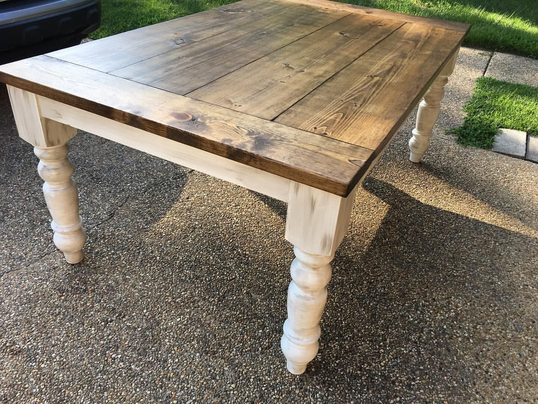 Dining Table Finished Look Stain Special Walnut Or Chestnut Seal
