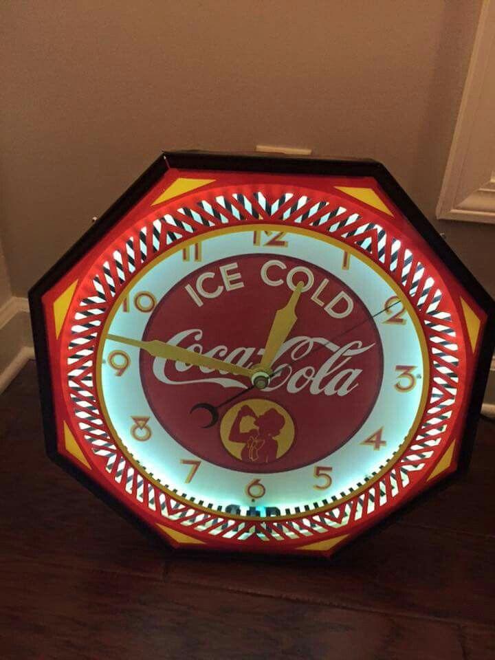 Coca Cola Neon Spinner Clock Neon Signs Coca Cola