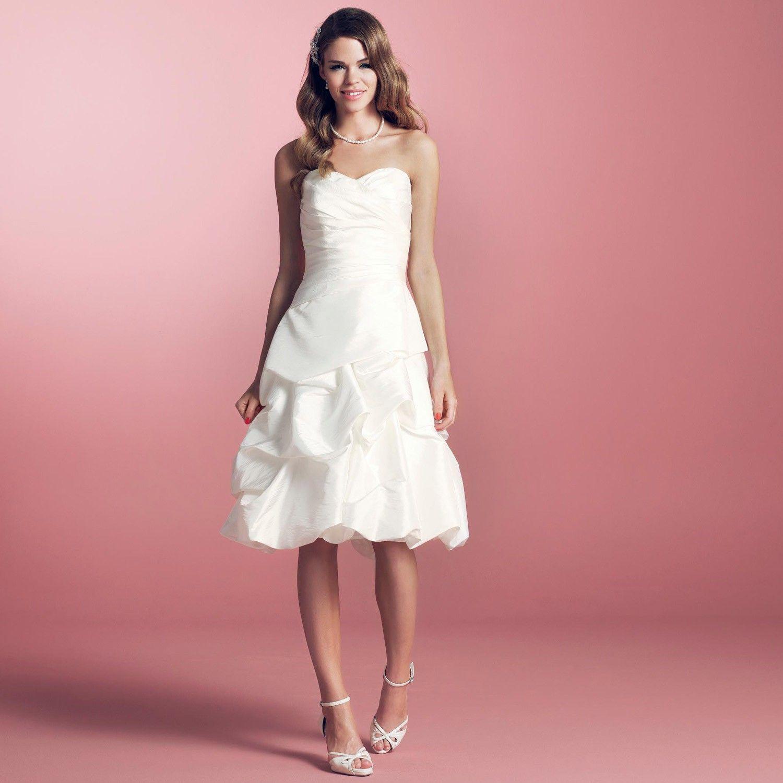 Robe de mariée courte taffetas ivoire Helena