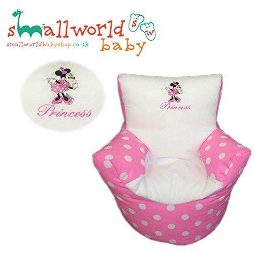 personalisierte minnie maus kleinkinder sitzsack in rosa weiss mit s ssem minnie mouse motiv. Black Bedroom Furniture Sets. Home Design Ideas