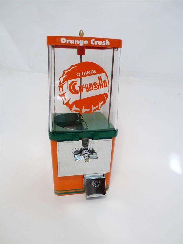 vintage gumball machine orange crush komet soda sign coin op machine vintagekomet. Black Bedroom Furniture Sets. Home Design Ideas
