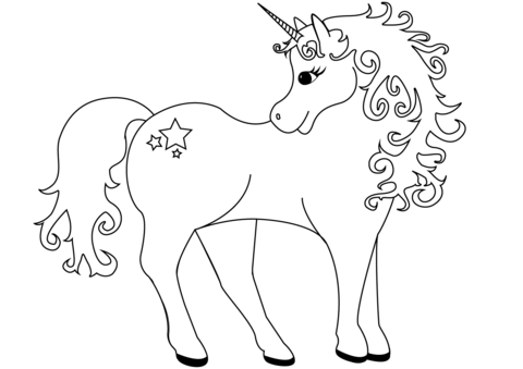 Unicorn Coloring Sheet Unicorn coloring pages, Unicorn