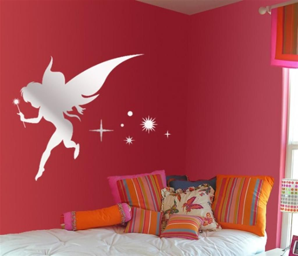 Awesome Fairytale Mirror Sticker Wall For Kids Bedroom Interior Design Roomsilove Wall Decor Stickers Bedroom Wall Designs Bedroom Wall Colors