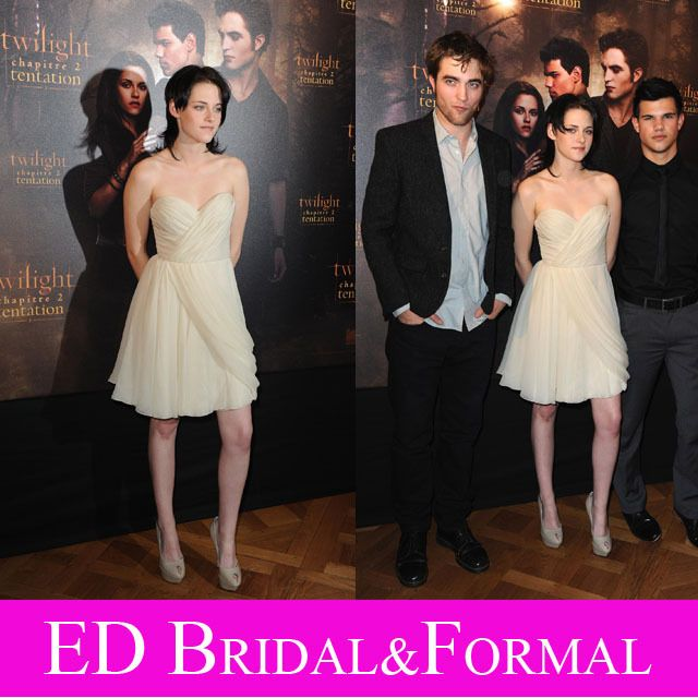 Kristen Stewart White Dress December 2017
