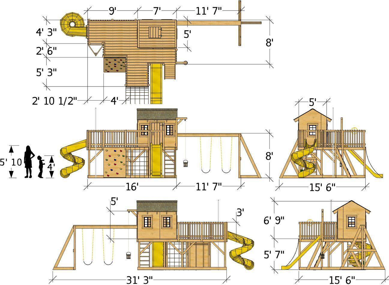 Playground Playhouse Plan Dimensions Play Houses Playhouse Plan Build A Playhouse