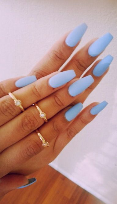 Ice Blue Nails Blue Matte Nails Nails Pretty Nails