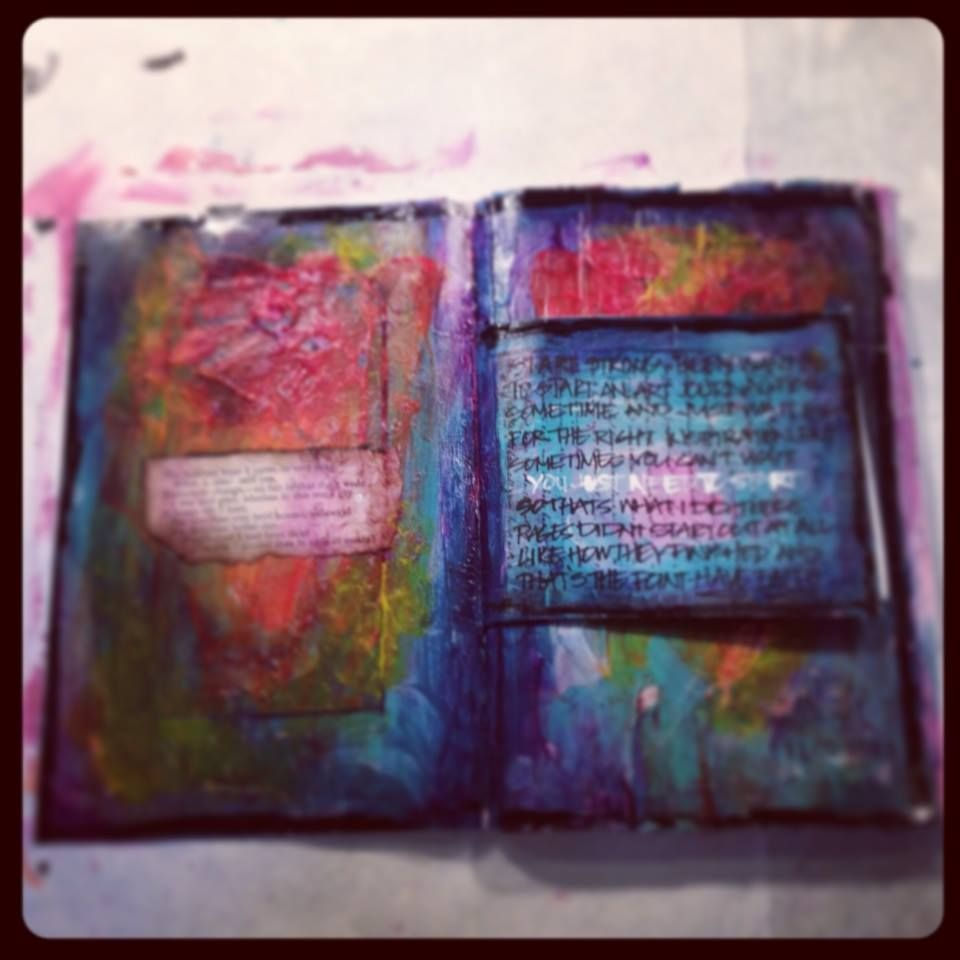 First page - Art journal - Tumblr