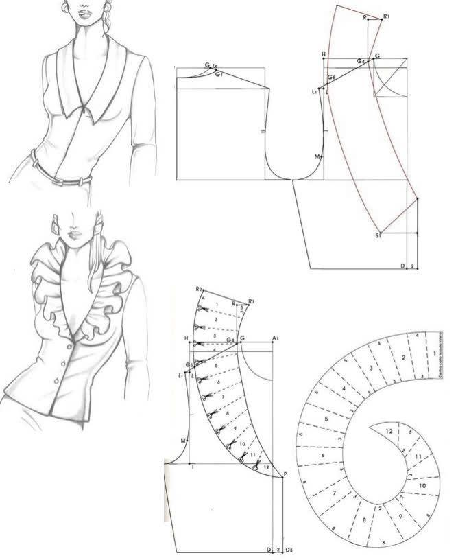 Pin de joseponte en blusas | Pinterest | Patrones, Costura y ...
