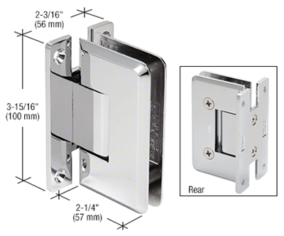 Polished Chrome Cologne 037 Series Wall Mount Hinge Shower Doors Glass Hinges Wall Mount