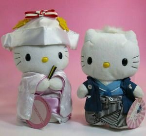 Limited Rare Boneka Hello Kitty Japanese Wedding Fashion Mcdonald