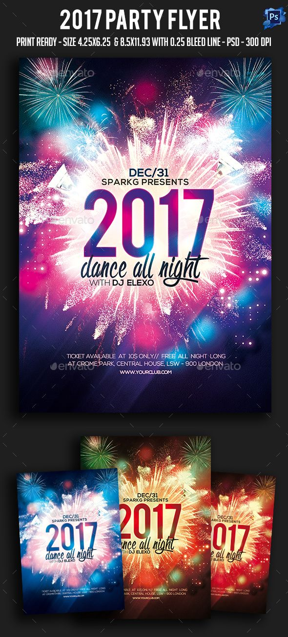 New Year Party Flyer Party flyer, Font logo and Logos - party flyer
