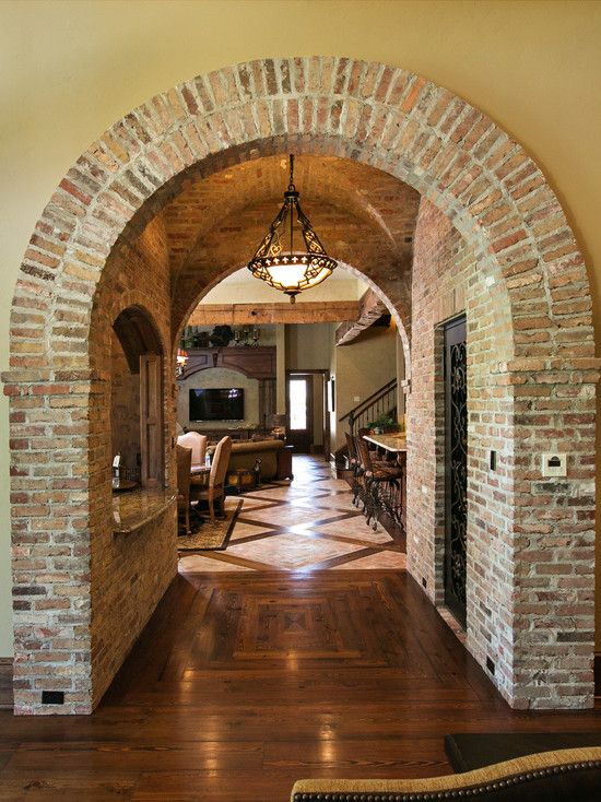 Mediterranean Home Design Photos Decor Ideas Brick Archway