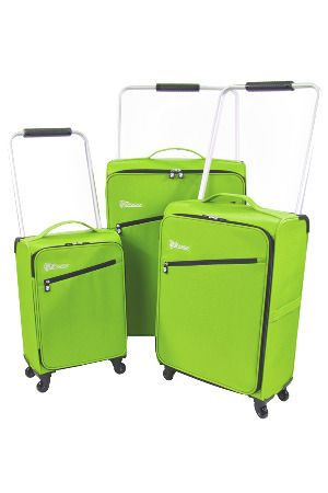 Heys 3-Piece Z-Frame Ultra Lightweight Luggage Set in Green | For ...