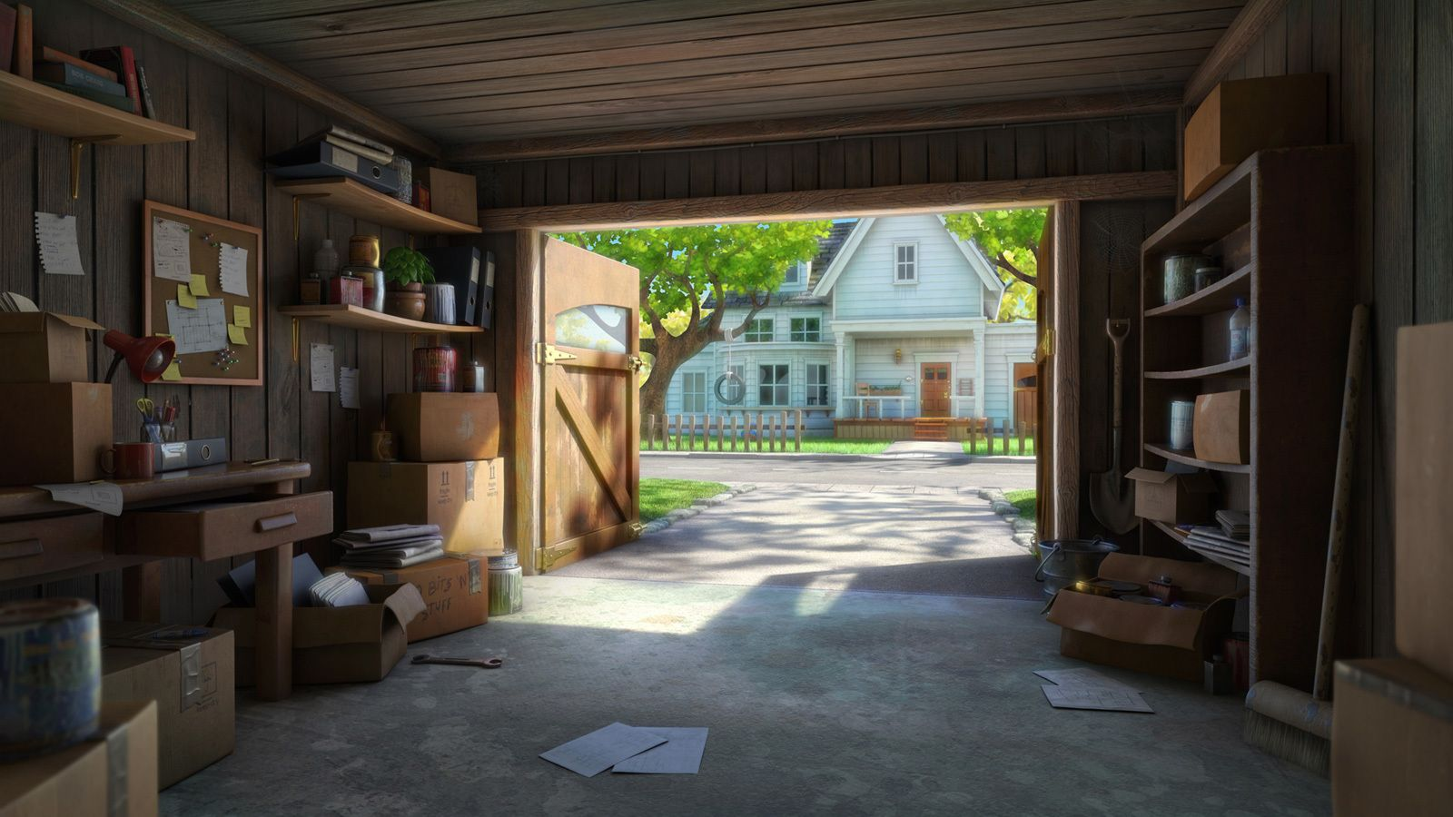 Summertime In The Garage By Robert Craig 3d Cgsociety Design Anime Scenery Wallpaper Anime Backgrounds Wallpapers
