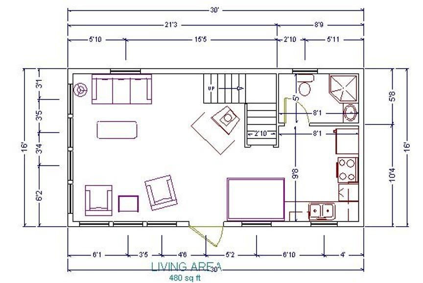 16x24 cabin floor plans re 20x34 1 5 story in ashe for 16x24 house