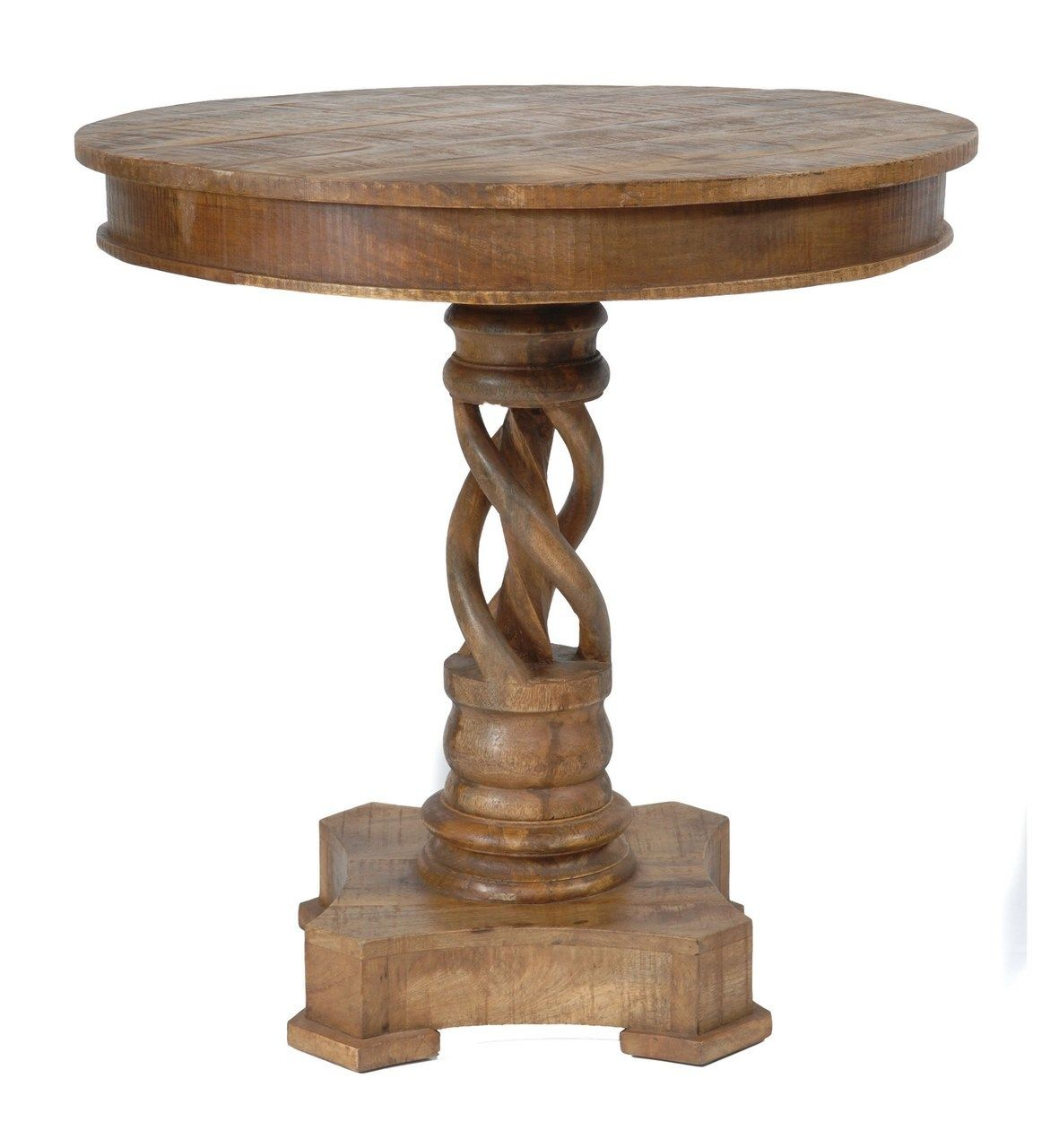 Accent Table Made Of Mango Wood Round 30 Inch Size With
