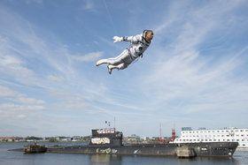Li Wei, Fly over Amsterdam - Cosmonaut NDSM, 2014 -  Exposition ART FAIR - Grand Palais - PARIS 2015