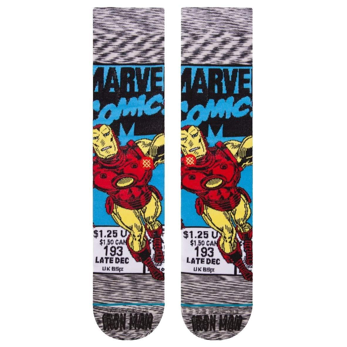 Mens 1 Pair Stance Marvel Captain America Comic Cotton Blend Socks