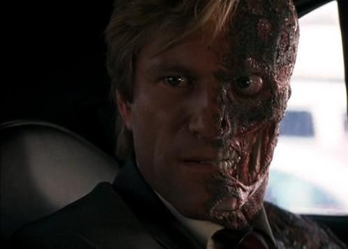 Harvey Dent as Two-Face.