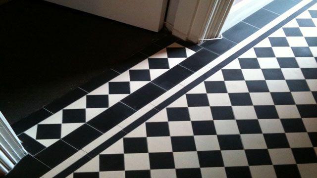 Black And White Victorian Floor Tiles 3 White Tile Floor Tile