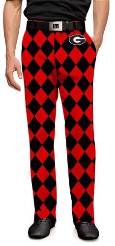 13d58da616f56 Loudmouth Golf Mens Made-To-Order Pants - Georgia Bulldogs Dawgs. Buy it @  ReadyGolf.com
