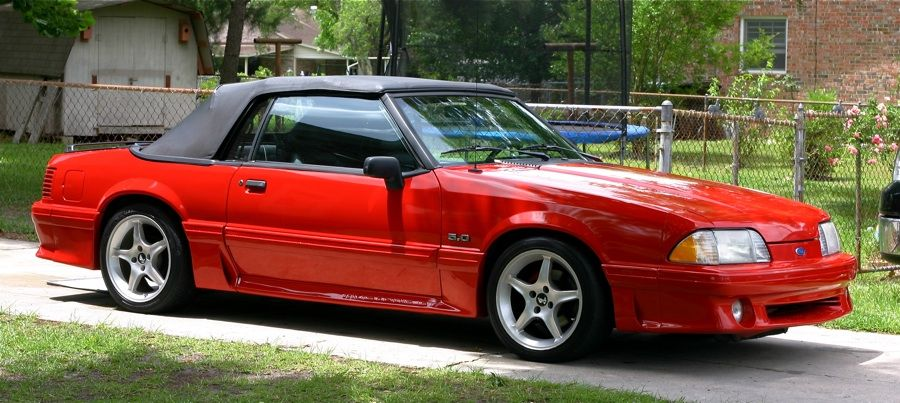 90 Gt Convertible 1993 Ford Mustang Fox Body Cobra Car Man