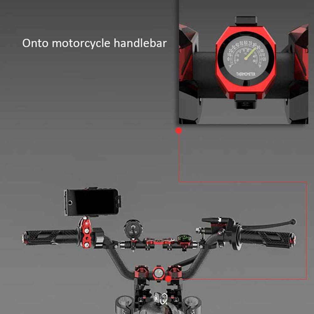 Hongfei Motorbike Clock Vehicle Thermometer with Motorcycle Motorcycle