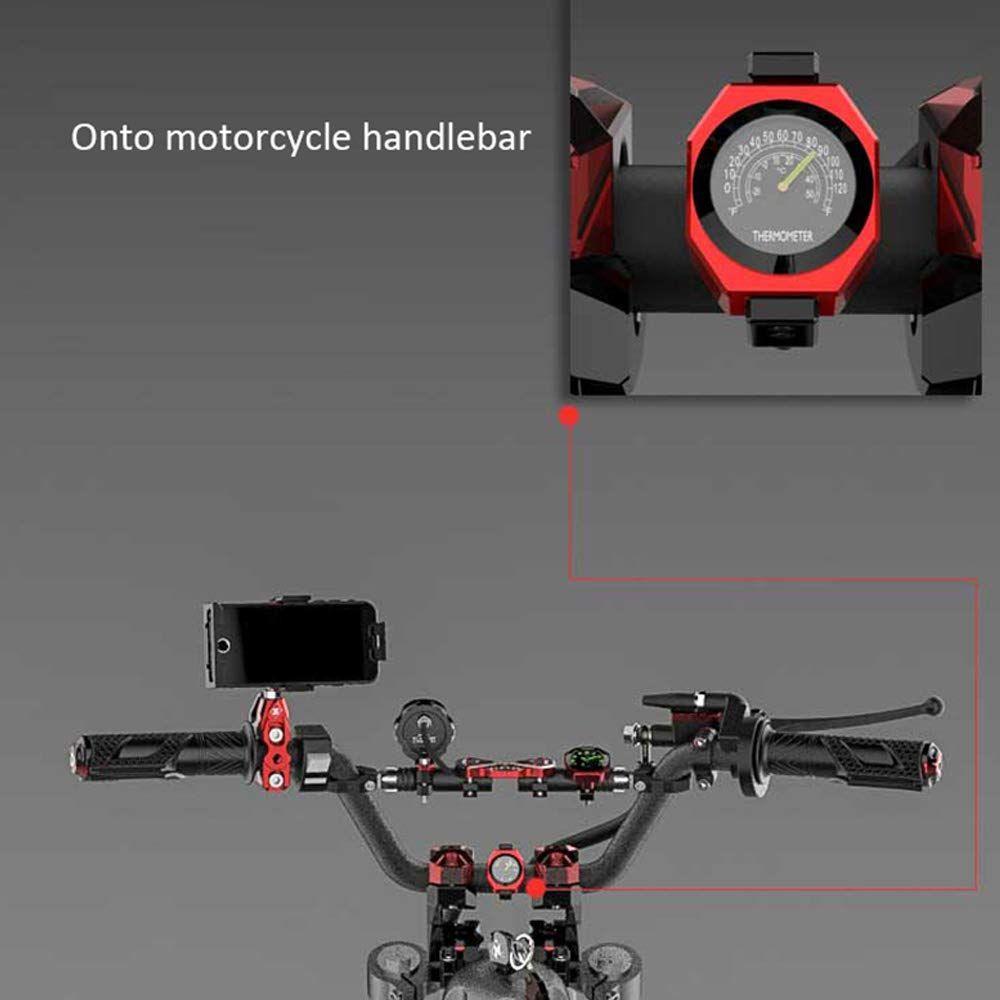 Waterproof Motorcycle Motorbike Handlebar Mount Round Dial Clock Accessory
