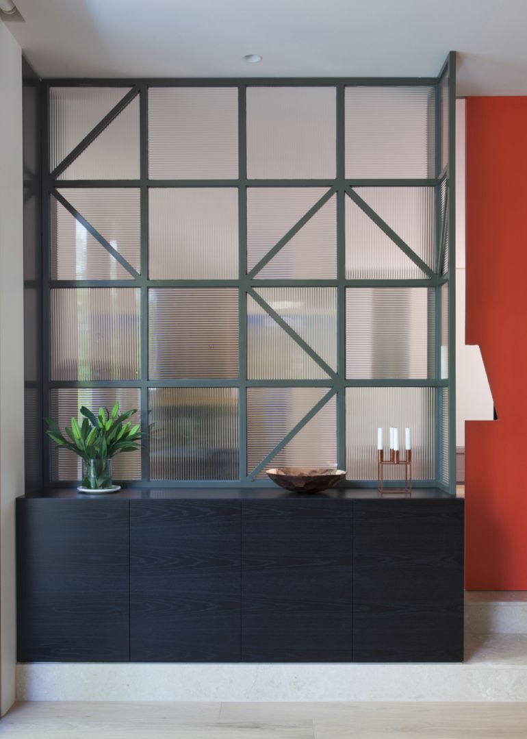 Interior Design Room Dividers: Hawthorn East House. Glass Wall And Unit Instead Of