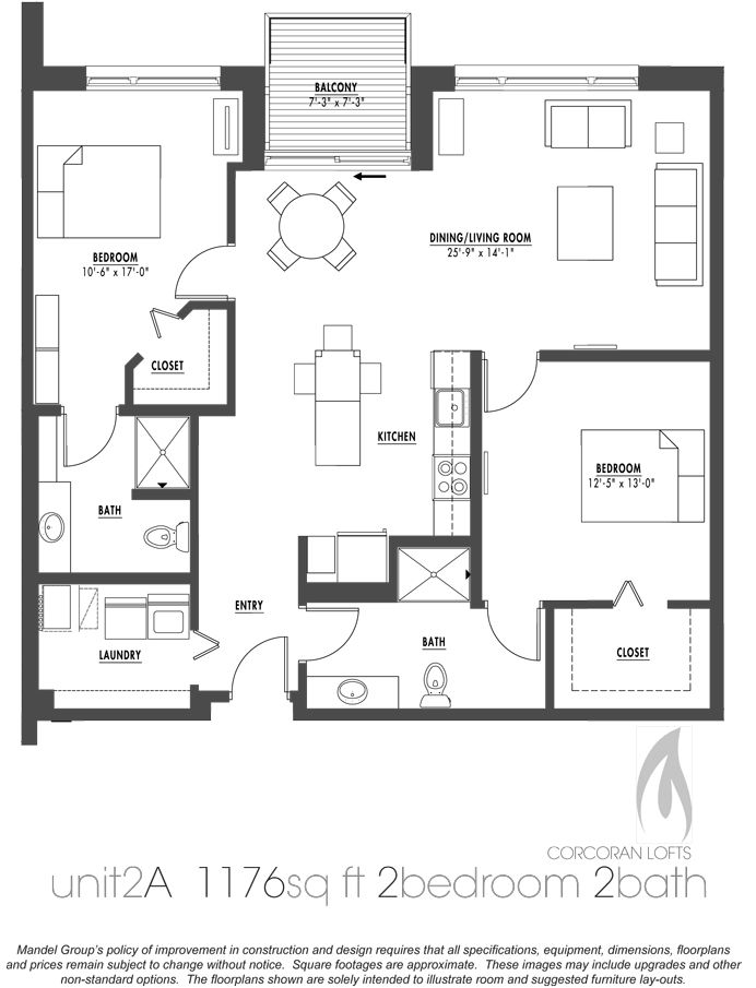 Apartment floor plans pdf latest bestapartment 2018 for Two bedroom loft floor plans