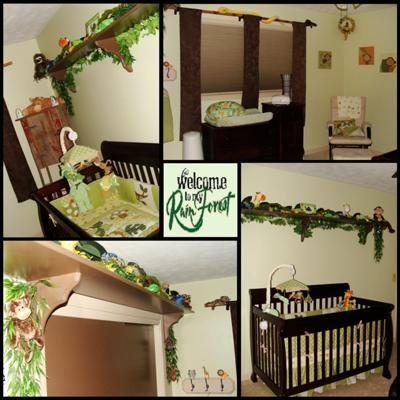 Nursery Tropical Rainforest Theme Ideas Baby Bedding And Decor