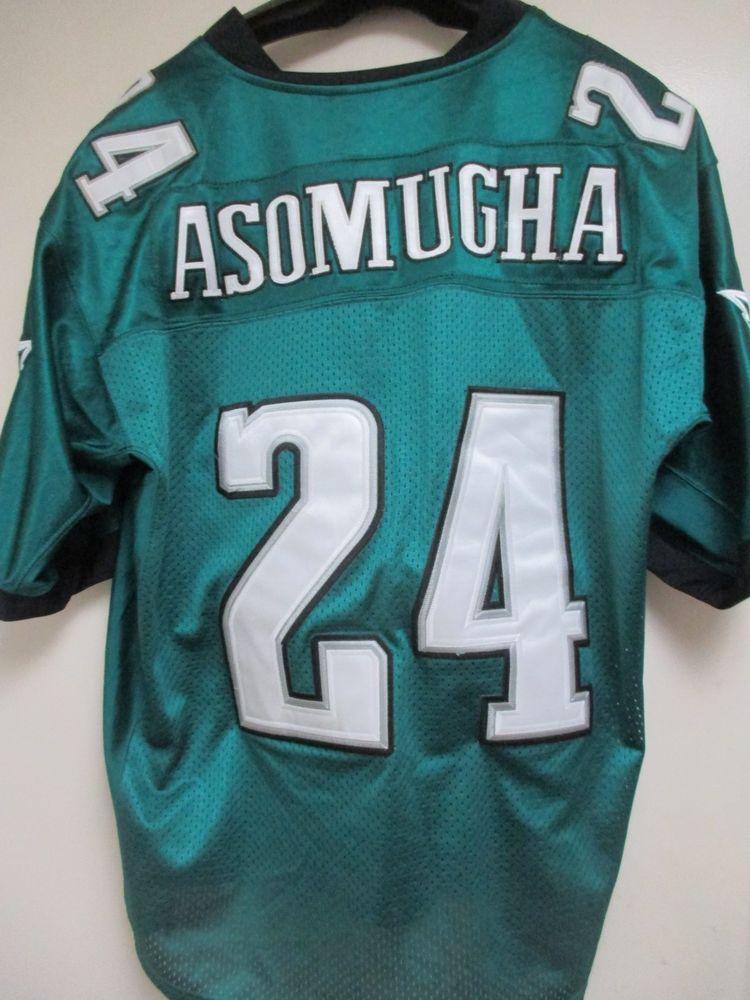 4abe09142 Nnamdi Asomugha Reebok #24 Philadelphia Eagles NFL Sewn Football Jersey  Size 52 #Reebok #PhiladelphiaEagles