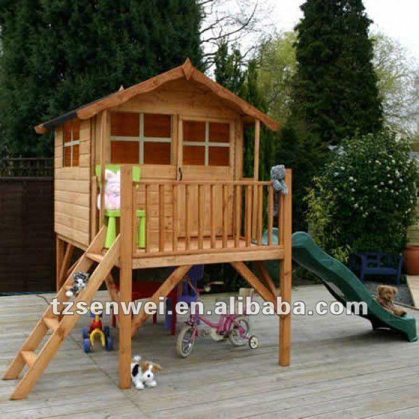 Resultado de imagem para casa de madeira infantil - Parque infantil casa ...
