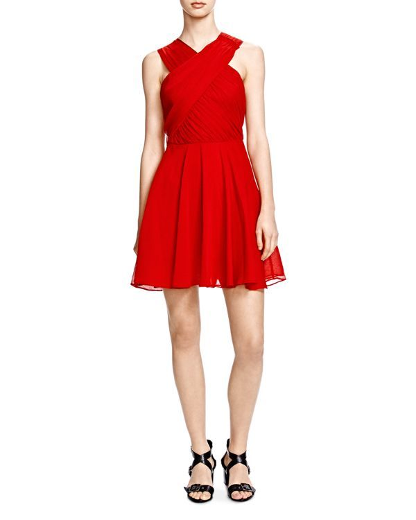 The Kooples Crossover Fit and Flare Dress