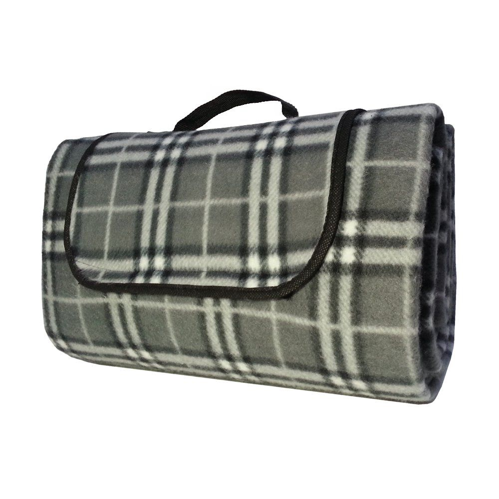 Amazon.com : Classic Fleece Outdoor Picnic and Camp Blanket, Keeps You Clean and Dry At the Beach or While Camping, Great for Babies, Foldable Into a Tote, Waterproof Padded Backing, Just Open and Throw Onto the Ground. By Kozy Kabin Essentials, It's Time to Get Outdoors Into the Green with One of Our Large Kozy Blankets! (Gray) : Sports & Outdoors