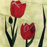 carnation quilt block | 24 Flower Quilt Blocks, Full-sized piecing for foundation piecing by ...
