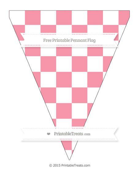 Free Pastel Pink Checker Pattern Simple Pennant Flag Patterned Rh Com Au Dirt Bike Birthday Invitations