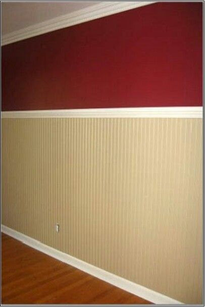 Kitchen tan walls with cranberry accent wall | House | Pinterest ...
