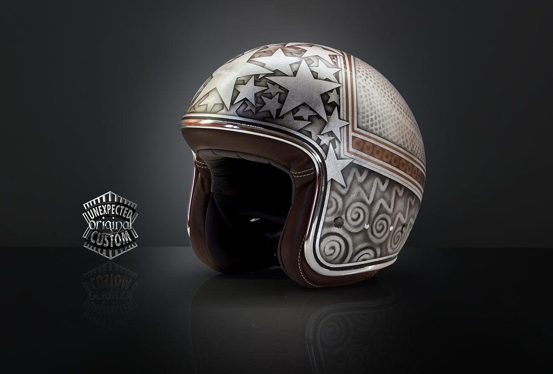 custom motorcycle helmet stardust