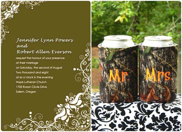 Camouflage Wedding Invitation Kits: Camo Wedding Ideas For Redneck Weddings