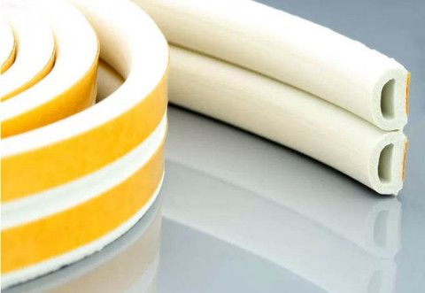 Self-adhesive D-shaped window insulation rubber profile white for the …