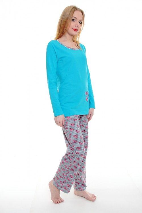 Пижама А1784 Размеры: S, M, L, XL Цена: 908 руб.  http://optom24.ru/pizhama-a1784/  #одежда #женщинам #пижамы #оптом24