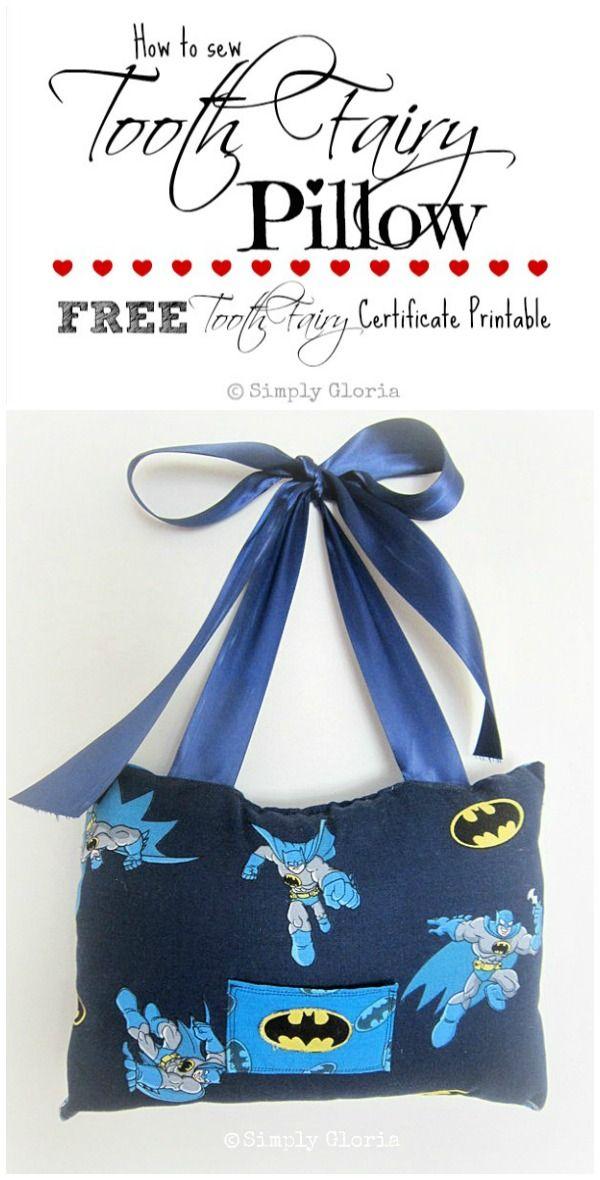 Tooth Fairy Pillow & Free Printable - Simply Gloria